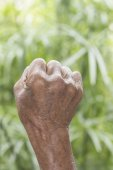 Old man hand sign — Stock Photo
