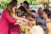 Songkran festival — Stockfoto