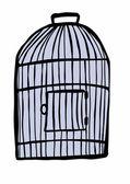 Doodle birdcage — Stock Photo