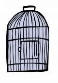 Doodle birdcage — 图库照片