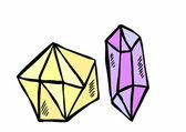 Doodle diamond — Stock Photo