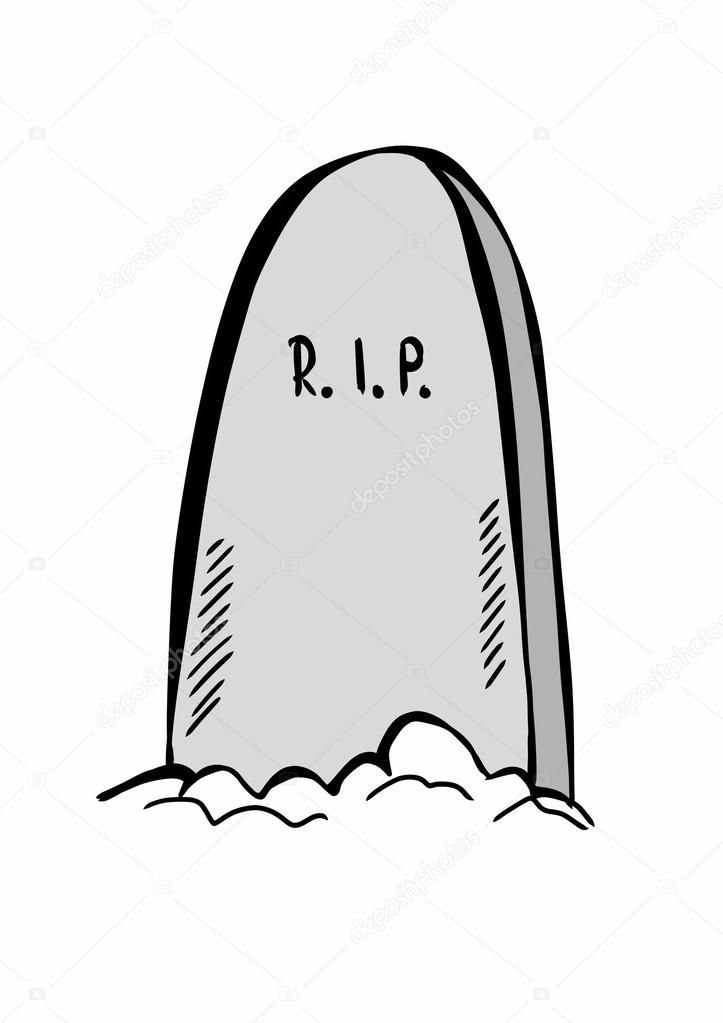 Doodle tombstone with RIP — Stock Photo © dusan964 #52513959
