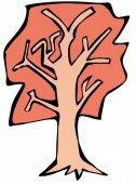 Doodle autumn tree — Stock Photo