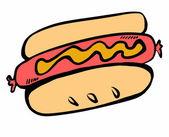 Doodle hot dog — Stock Photo