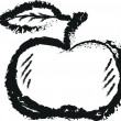 Simple doodle apple, charcoal line art — Stock Photo #53993149