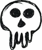 Doodle skull — Stock Photo