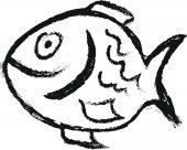 Doodle fish — Stock Photo