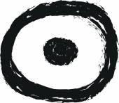 Doodle charcoal symbol target — Stock Photo