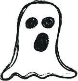 Doodle ghost, Halloween — Stock Photo
