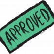 Doodle approved stamp, sticker, tag, label, sign, icon — Stock Photo #56400795