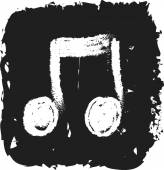 Music note icon doodle — Stock Photo