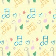 Doodle pattern musical notes seamless texture — Stock Photo #56487495