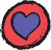 Doodle heart icon — Stock Photo