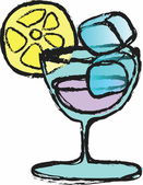 Doodle cocktail — Stock Photo