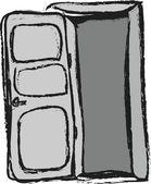 Doodle door — Stock Photo