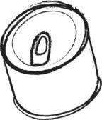 Doodle Tin can — Stok fotoğraf