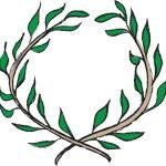 Doodle laurel wreath, framework design element — Stock Photo #57821823