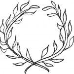 Doodle laurel wreath design element — Stock Photo #57821945