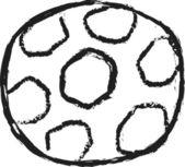 Pallone da calcio Doodle — Foto Stock