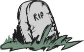 Doodle tombstone with RIP — Stock Photo