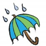 Doodle umbrella under the rain — Stock Photo #58280425