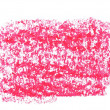 Photo grunge red wax pastel crayon spot isolated on white background — Stock Photo #58367759