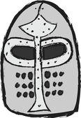 Casco medieval doodle — Foto de Stock