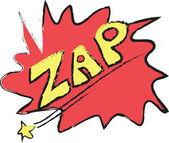 Zap! - Comic Speech Bubble, Cartoon — Stock Photo