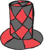 Doodle masquerade hat — Stock Photo