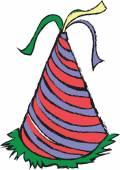 Doodle birthday cap — Stockfoto
