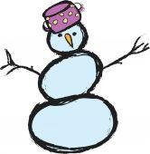 Doodle snowman — ストック写真