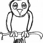 Doodle owl, design element — Stock Photo #59151901