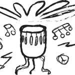 Doodle drum design element — Stock Photo #59547395