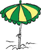 Cartoon beach umbrella — Stock Photo