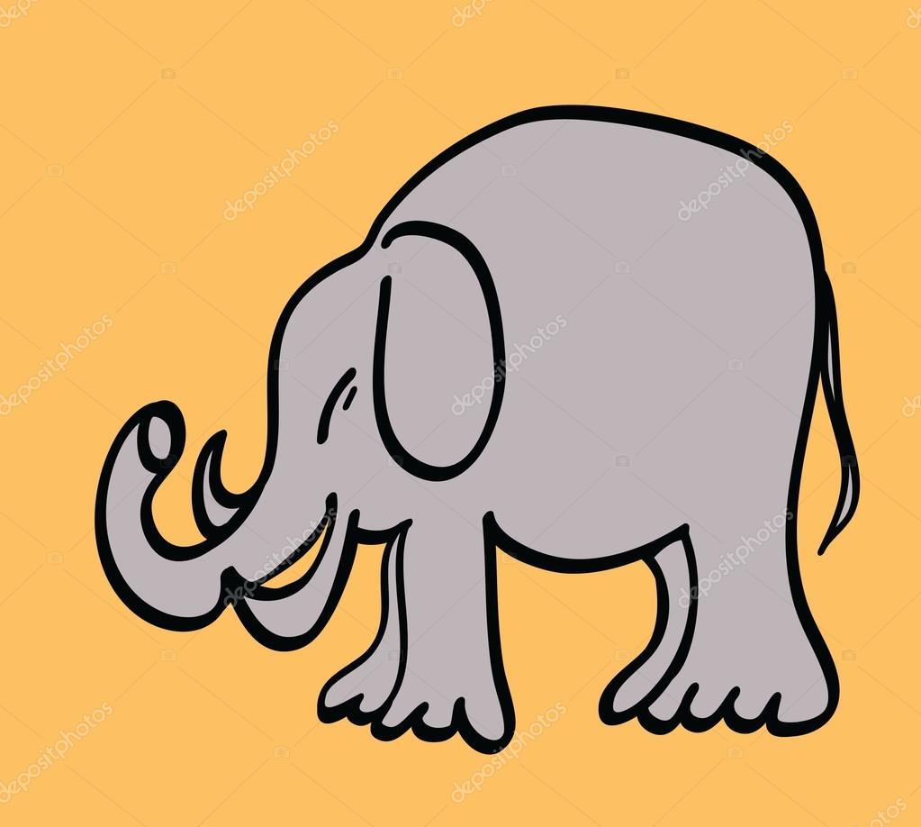 大象卡通 — 图库照片08dusan964#60252347