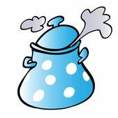 Cartoon cooking pot — Stock Photo