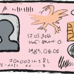 Cartoon national identity card — Stock Photo #60557645