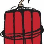 Cartoon grunge dynamite, design element — Stock Photo #60693913