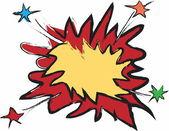 Comic Speech Bubble, Cartoon — Fotografia Stock