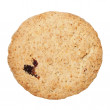 Oatmeal cookies with raisins, isolated on white background — Stock Photo #61702951