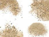 Pile sand isolated on white backgrounds — Stock Photo