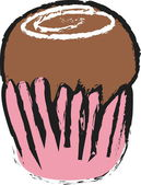 Cartoon cake — Stock Photo