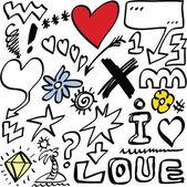 Love doodle set — Stock Photo