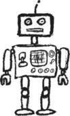 Cartoon retro robot — Stok fotoğraf