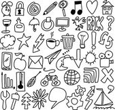 Doodle Icons — Stock Photo