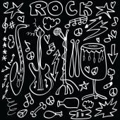 Doodle rock musical instruments — Stock Photo