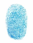 Photo fingerprint isolation on white background, with clipping path — Stock Photo