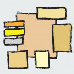 Doodle panel message background, design element — Stock Photo #64370807