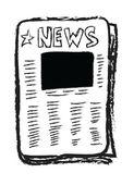 Cartoon newspaper with blank photo, empty reportage — Stock Photo