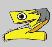 Doodle grunge silly letter z — Stock Photo